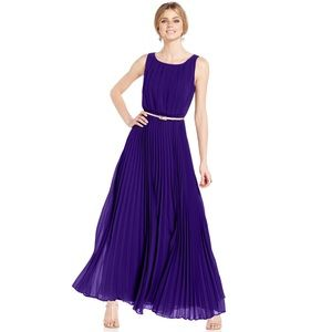 Eliza J Pleated Maxi Dress in Blue